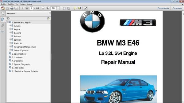 BMW M3 E46 motor S54 L6 - Manual de Taller - Workshop Repair Manual