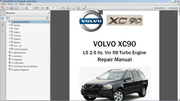 VOLVO XC90 2.5T Workshop Repair Manual - Manual de Taller