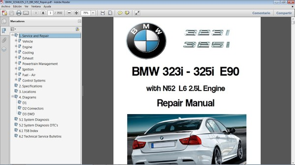 BMW 323i & 325i E90 Workshop Repair Manual - Manual de Taller