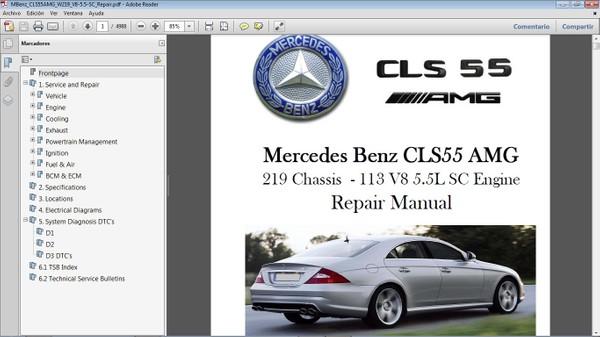 MERCEDES BENZ CLS55 AMG W219 Manual de Taller - Workshop Repair
