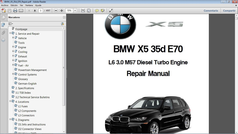 BMW X5 35d E70 Manual de Taller - Workshop Repair Manu ...