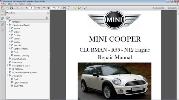 MINI COOPER R55 Clubman N12 2008-2010 Manual de Taller