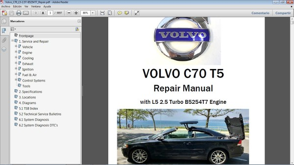 VOLVO C70 T5 Workshop Repair Manual - Manual de Taller