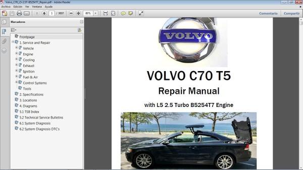 VOLVO C70 T5 Workshop Repair Manual - Manual de Taller