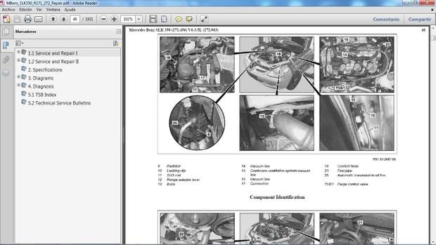 MERCEDES BENZ SLK350 R171 Manual de Taller - Workshop Repair