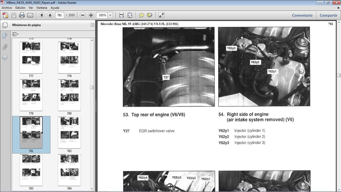 Mercedes Benz Ml55 Amg W163 Manual De Taller