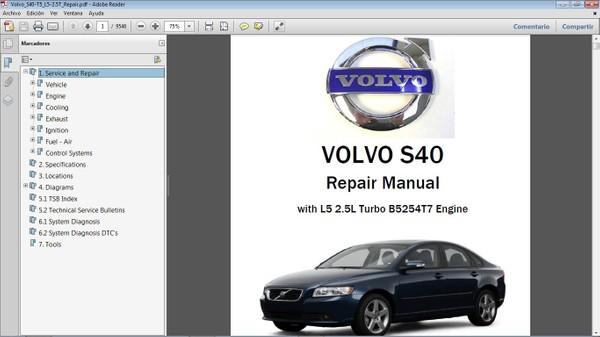 VOLVO S40 T5 Workshop Repair Manual - Manual de Taller