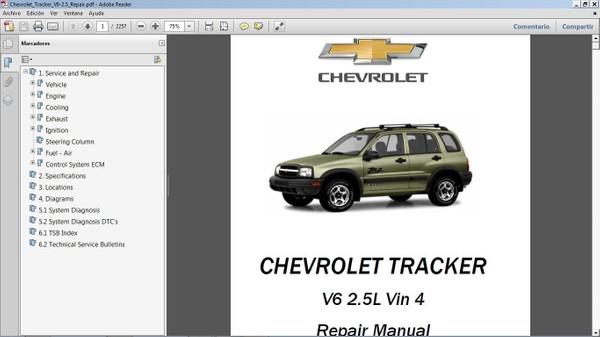 CHEVROLET TRACKER Manual de Taller - Repair Manual