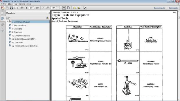 CHEVROLET TRACKER Manual de Taller