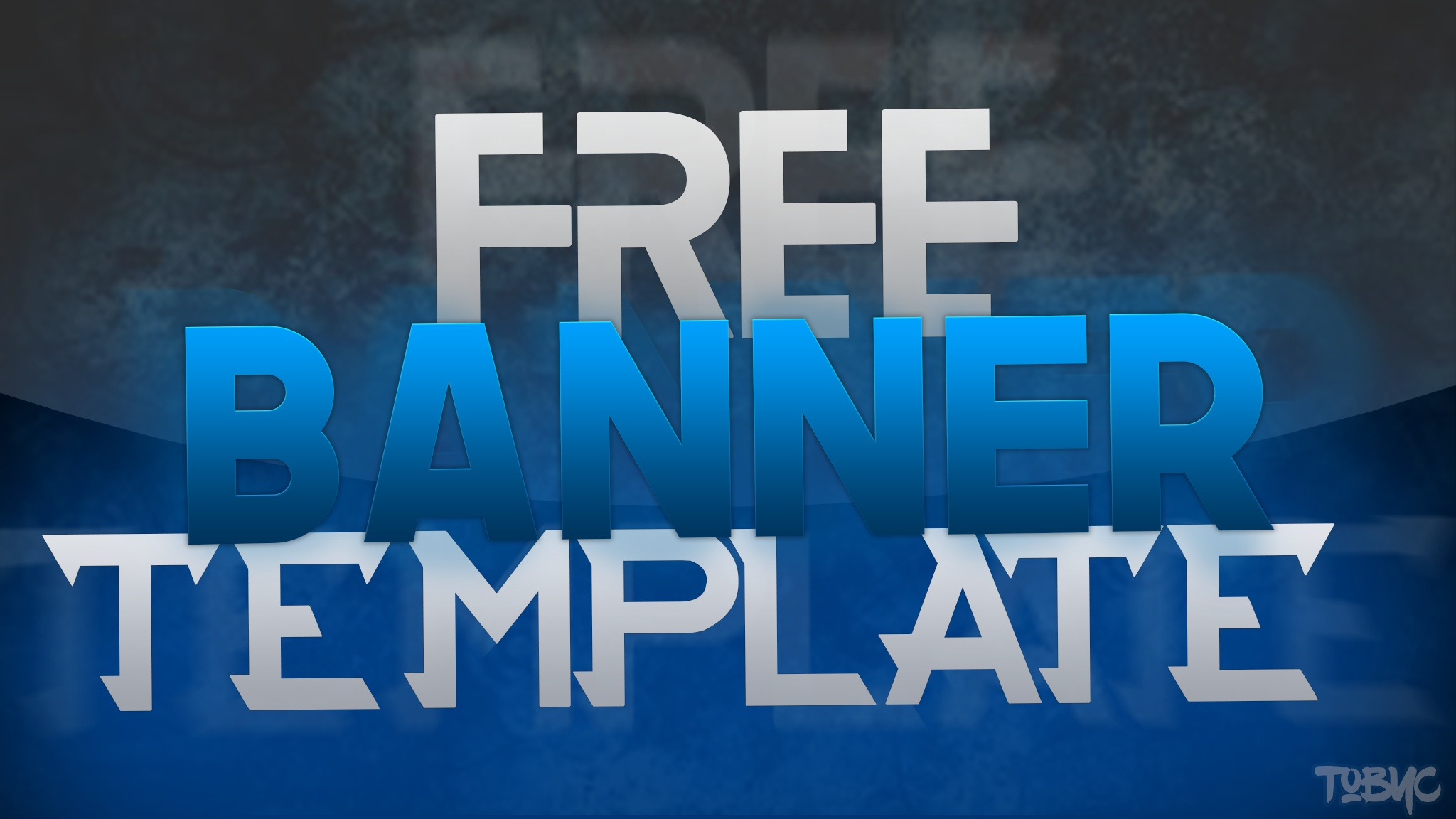 Free Banner Template 2048x1152 Tobyc Graphics