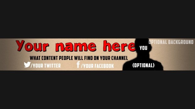 YouTube Re-Brand Template 1!