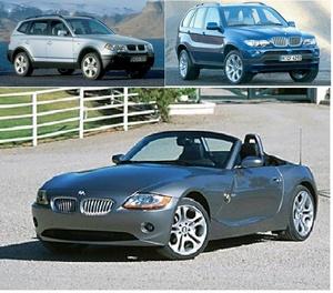 BMW X3, X5, Z4 WIS (2004-2005)
