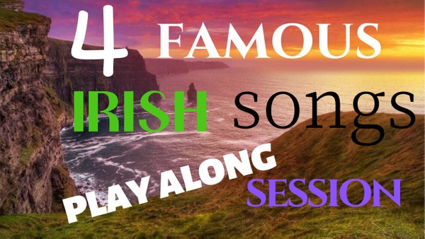 4 famous Irish songs play-along harmonica session