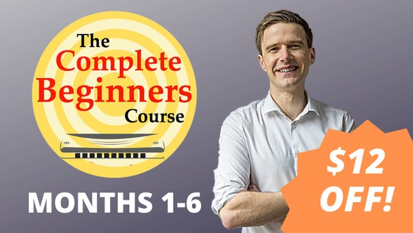 The Complete Beginner Harmonica Course - Months 1-6