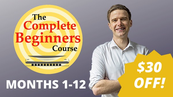 The Complete Beginner Harmonica Course - Months 1-12