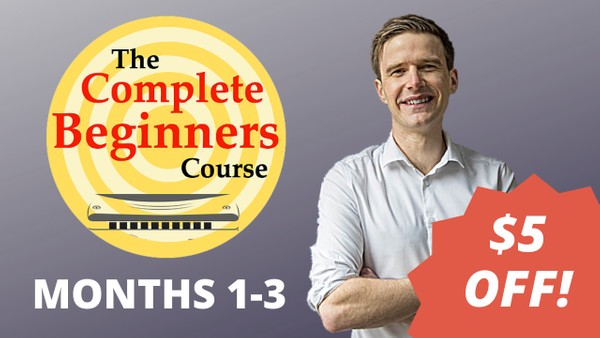 The Complete Beginner Harmonica Course - Months 1-3