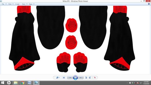 Miles Morales Comic Dye Sublimation Print File