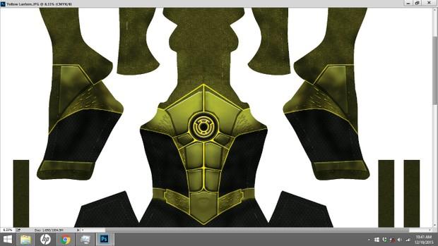 Yellow Lantern Dye Sublimation Print File