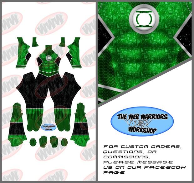 Green Lantern Dye Sublimation Print File