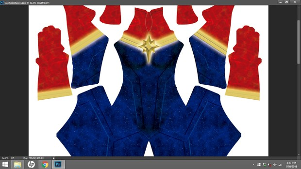 Captain Marvel (Carol Danvers) Dye Sublimation Print File