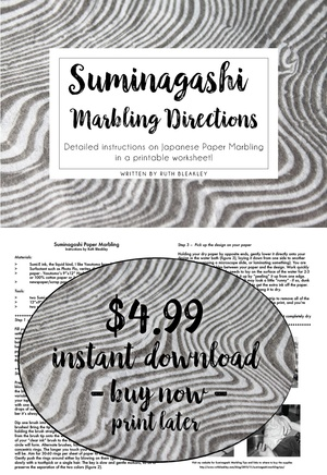 Suminagashi Marbling Instructions from Ruth Bleakley