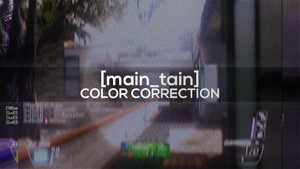 [main_tain] - Color Correction.