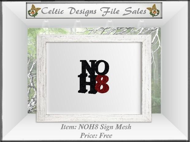 CD NOH8 3-D Sign Mesh