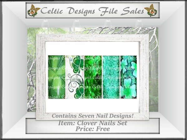 CD Clover Nails Set