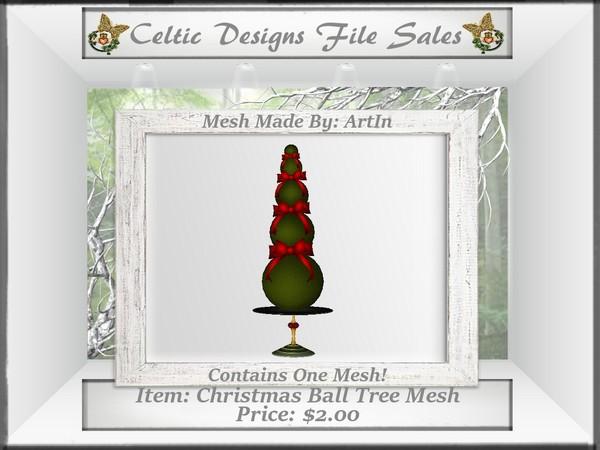 CD Christmas Ball Tree Mesh