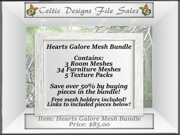 CD Hearts Galore Mesh Bundle