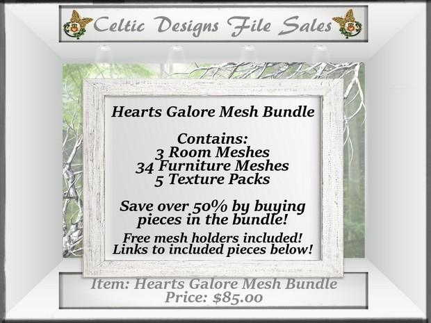 CD Hearts Galore Mesh Bundle