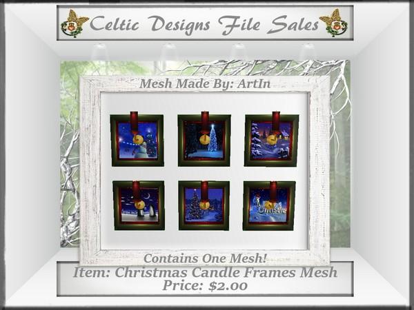 CD Christmas Candle Frames Mesh