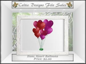 CD Heart Balloons