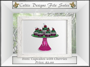 CD Cupcakes with Cherries