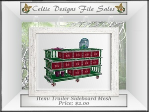 CD Trailer Sideboard Mesh