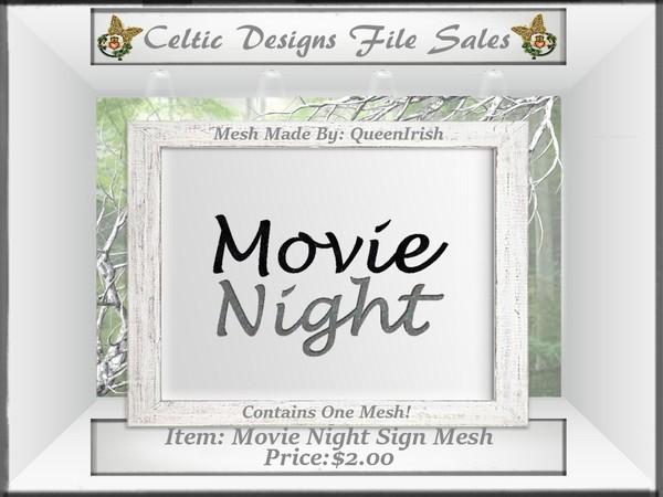 CD Movie Night Wall Sign