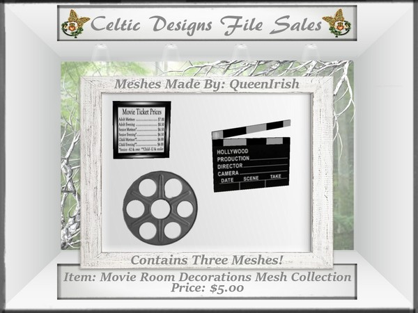 CD Movie Room Decorations Mesh Collection