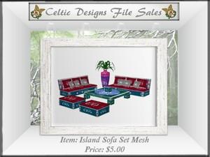 CD Island Sofa Set Mesh