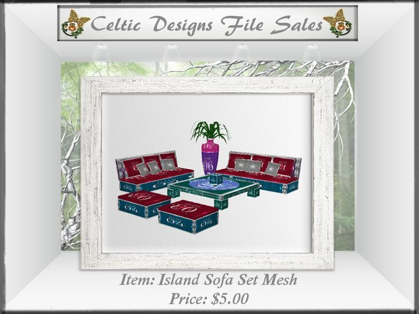 CD Island Sofa Set Mesh