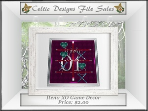 CD XO Game Decor Mesh