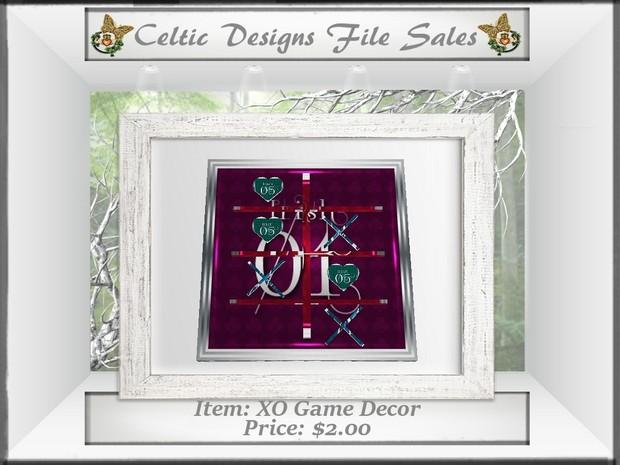 CD XO Game Decor Mesh