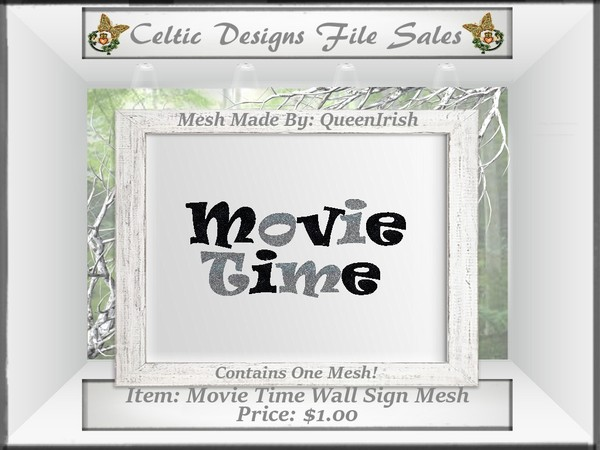 CD Movie Time Sign Mesh