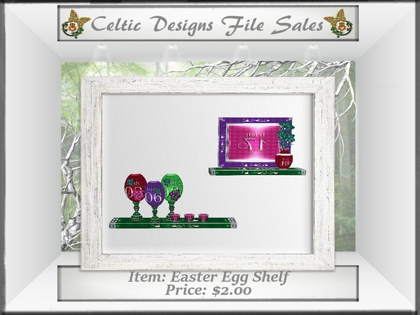CD Easter Egg Shelf Mesh