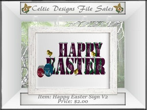 CD Happy Easter Sign V2 Mesh
