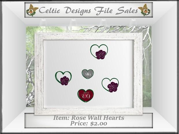 CD Rose Wall Hearts