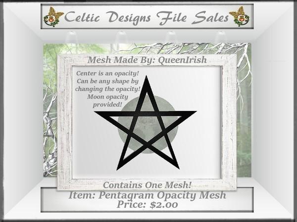 CD Pentagram Opacity Wall Hanging Mesh
