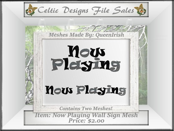 CD Now Playing Sign Mesh Collection