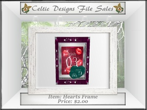 CD Hearts Frame