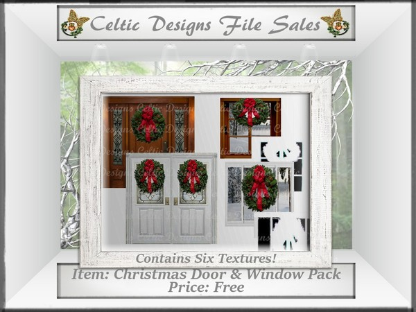 CD Christmas Door & Window Texture Pack