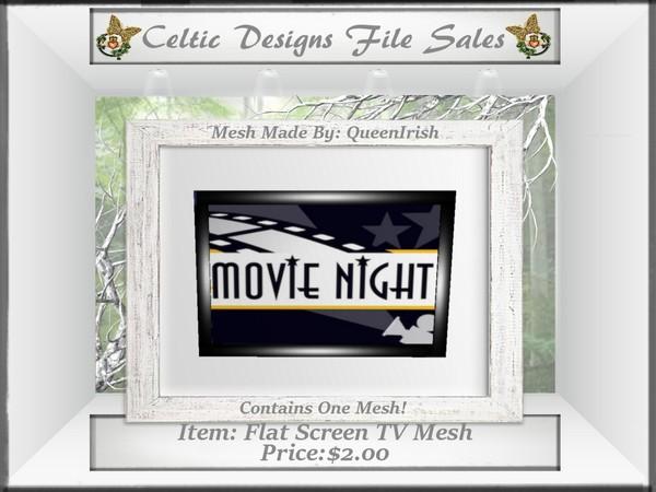 CD Flat Screen TV Mesh